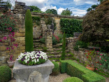 HEVER, KENT/UK - JUNE 28 : View of the Garden at Hever Castle in Royalty Free Stock Image