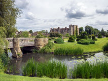 HEVER, KENT/UK - JUNE 28 : View of Hever Castle and Grounds in H Stock Photography