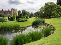HEVER, KENT/UK - JUNE 28 : View of Hever Castle and Grounds in H Royalty Free Stock Photography