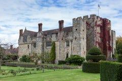 HEVER KENT/UK - SEPTEMBER 18: Hever slott i Hever Kent på Se Royaltyfria Foton