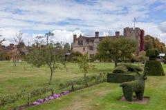 HEVER KENT/UK - SEPTEMBER 18: Hever slott i Hever Kent på Se Fotografering för Bildbyråer