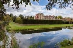 HEVER KENT/UK - SEPTEMBER 18: Hever slott i Hever Kent på Se Arkivfoto