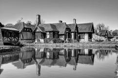 Hever slott & trädgårdar royaltyfri fotografi