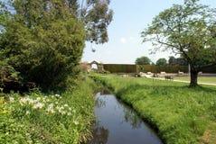 Hever slottträdgård i England arkivbilder