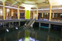 Heviz,匈牙利- 2017年12月18日:在Heviz温泉的内在水池愈合 图库摄影