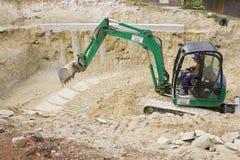 HEVIZ, HONGRIE - AOÛT 2013 : Bouteur, excavatrice Digging Image libre de droits