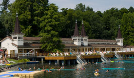Heviz Thermal Lake royalty free stock image
