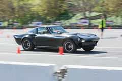 Hevrolet Corvette Stingray in autocross Royalty Free Stock Photos