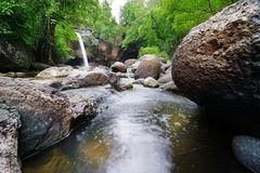 Hew Su Wat waterfall in Thailand. Hew Su Wat waterfall in khao yai national park in Thailand Royalty Free Stock Photos