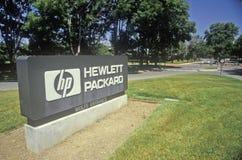 Hewlett Packard building, high tech firm in Cupertino, California Stock Photos