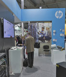 Hewlett-Packard company booth at CEE 2015, the largest electronics trade show in Ukraine Stock Photo