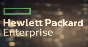 Hewlett Packard företagbokstäver Royaltyfri Foto