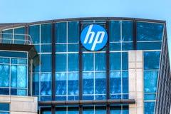 Hewlett-Packard företags högkvarter i Silicon Valley Arkivbild
