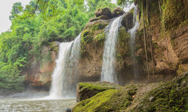 The Hewsuwat waterfall. Royalty Free Stock Images