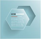Hexágono abstracto del fondo del vector. Web y diseño Imagen de archivo libre de regalías