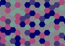 Hexágono abstracto del fondo Ilustración del vector Foto de archivo