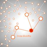 Hexágono abstrato para a rede móvel Imagens de Stock