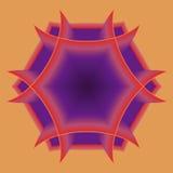 Hexágono anaranjado Imágenes de archivo libres de regalías