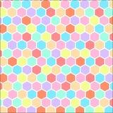 Hexágono colorido textura dada forma do fundo do teste padrão Imagem de Stock