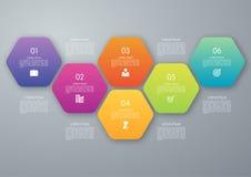 Hexágono del círculo del vector infographic Fotografía de archivo libre de regalías