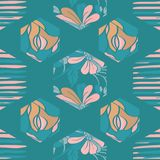 Hexágono floral do vetor ilustração royalty free