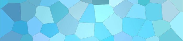 Hexágono grande brilhante azul na ilustração do fundo da forma da bandeira ilustração stock