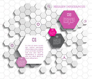 Hexágono Infographic Imagem de Stock