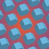 Hexágono realista abstracto 3d Fotografía de archivo libre de regalías