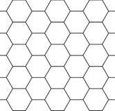 Hexágono sem emenda moderno do teste padrão da geometria do vetor Imagens de Stock Royalty Free