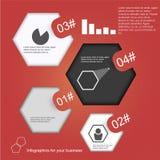 Hexágonos abstractos con el espacio para el texto Infografía Foto de archivo