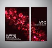 Hexágonos abstractos del fondo La plantilla del diseño de negocio del folleto o rueda para arriba stock de ilustración