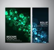 Hexágonos abstractos del fondo La plantilla del diseño de negocio del folleto o rueda para arriba ilustración del vector
