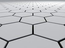 Hexágonos al infinito Imagen de archivo