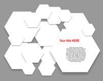 Hexágonos de papel Fotografía de archivo