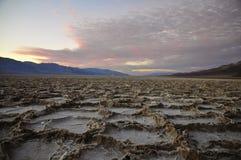 Hexágonos de sal na bacia de Badwater, o Vale da Morte Fotos de Stock Royalty Free
