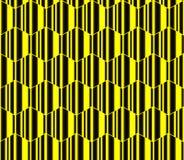 Hexágonos rayados amarillos, modelo inconsútil del panal, fondo del vector Fotos de archivo libres de regalías
