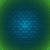 Hexágonos regulares de los octágonos y convexo cuadrado del azul turquesa del modelo y verde oscuro y brillante ilustración del vector