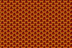 Hexágonos traslapados ilustración del vector