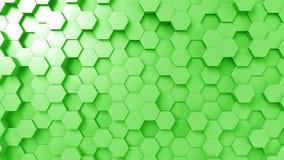 Hexágonos verdes abstractos almacen de video