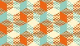 Hexágonos y modelo inconsútil geométrico de los triángulos libre illustration