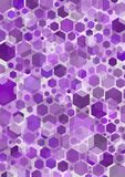 Hex. Illustrated purple hexagonal shapes background Stock Photo