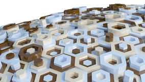 Hex Abstract Background Stock Photography