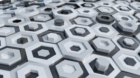 Hex Abstract Background Stock Photo