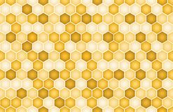 Hex backgroun. Vector image of brown hexahedron background stock illustration