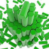 Hex Block Tower Stock Photo