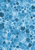 Hex Blue. Abstract background of blue hexagonal shapes Royalty Free Stock Photography