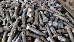 Hex bolts. Forged Hex bolts stock images