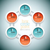 Hex Circle Point Infographic Royalty Free Stock Photo