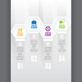 Hex Cube Infographic Royalty Free Stock Image