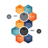 Hex Cycle Infographic Royalty Free Stock Photo